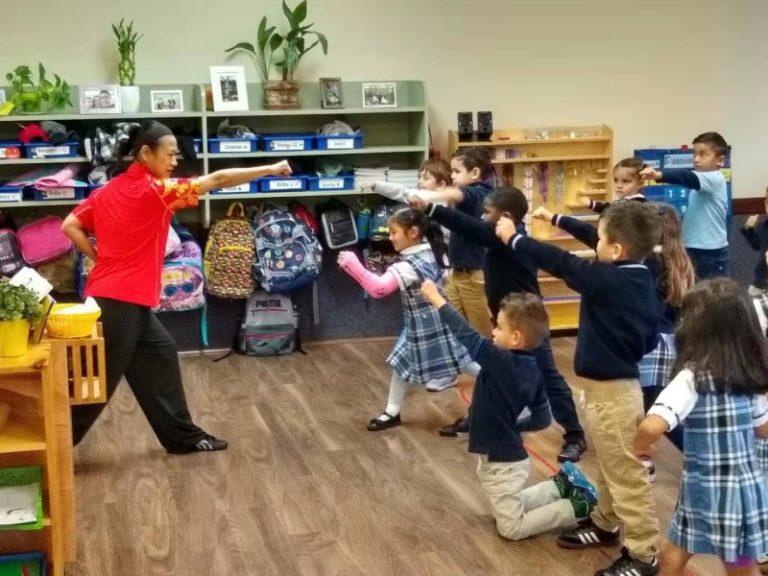 Kindergarten Kung Fu class