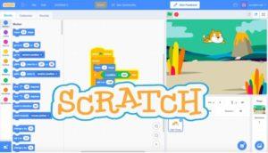 Scratch with logo